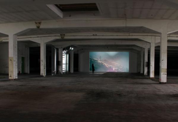 HDV, 5:03 Min., 16:9, Color, Stereo / Installation view / Invited Artists, Offen Auf AEG, Nuremberg, 2013 / Photo: Edgar Leciejewski